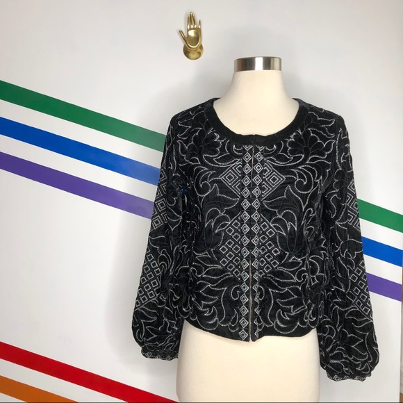 Urban Outfitters Jackets & Blazers - NEW Urban Outfitters velvet embroidered jacket